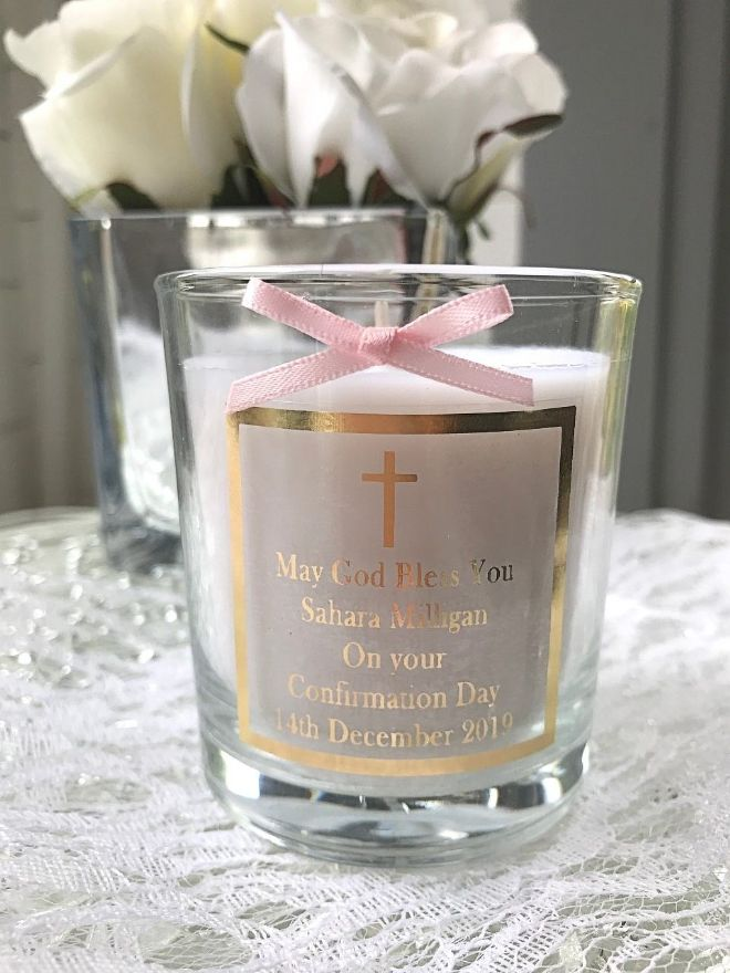 Personalised Confirmation Candle
